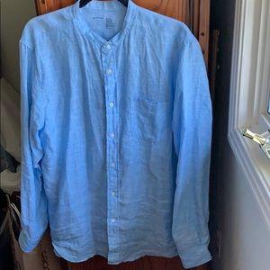 Blue linens shirt